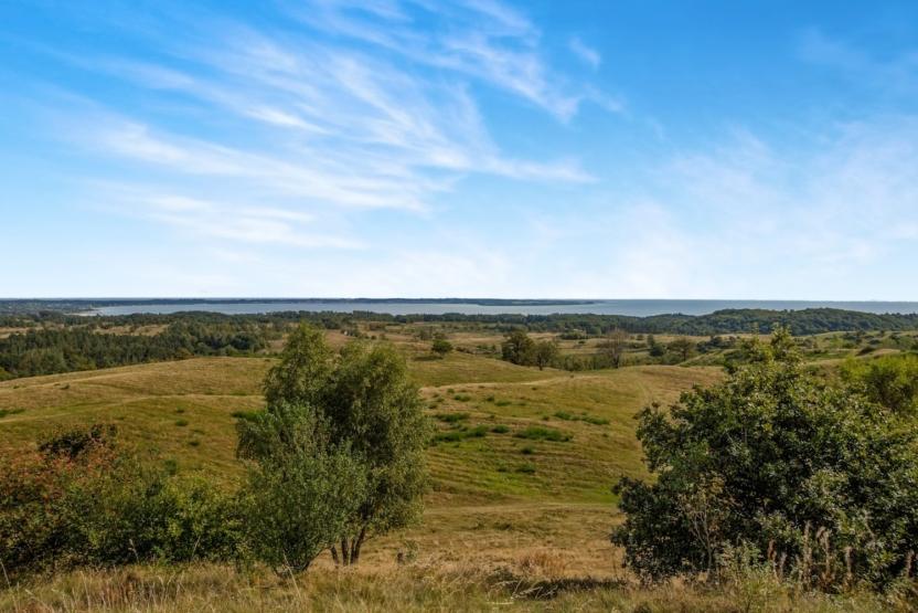 Udsigt ved Den Danske Naturfonds nye naturarealer i Mols Bjerge.